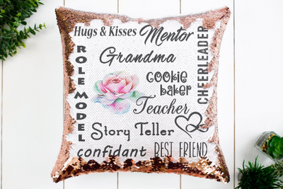 Grandma Sequin Pillow or Pillowcase - Something Sweet Party Favors LLC