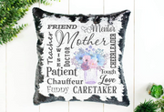Mom Sequin Pillow or Pillowcase - Something Sweet Party Favors LLC