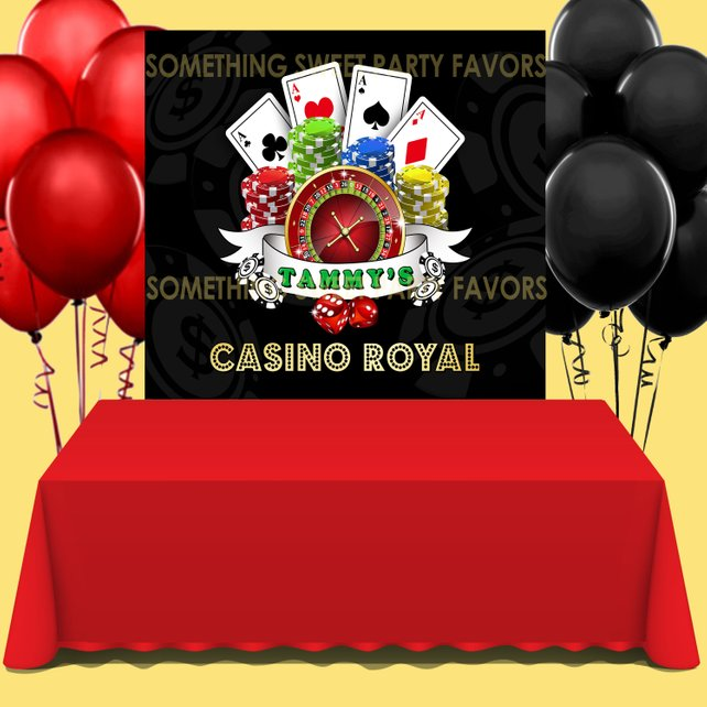 Casino Themed Party Backdrop - FREE SHIPPING - Something Sweet Party Favors LLC