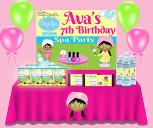 Spa Party Theme Backdrop - FREE SHIPPING - Something Sweet Party Favors LLC
