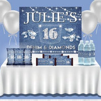 Denim & Diamonds Party Backdrop - FREE SHIPPING - Something Sweet Party Favors LLC