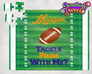 Sports Themed Prom Proposal Puzzle - Something Sweet Party Favors LLC