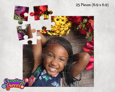 Custom Hardboard Photo Puzzles With FREE Matching Drawstring Gift Bag - Something Sweet Party Favors LLC