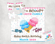 What's The Scoop Pregnancy Announcement Puzzle - Something Sweet Party Favors LLC