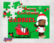 Little Boy Personalized Christmas Puzzle - Something Sweet Party Favors LLC