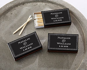 Black Chalkboard Matches (Set of 50) FREE SHIPPING - Something Sweet Party Favors LLC