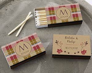 Fall Themed Matches (Set of 50) FREE SHIPPING - Something Sweet Party Favors LLC