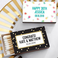 Polka Dot Matches (Set of 50) FREE SHIPPING - Something Sweet Party Favors LLC