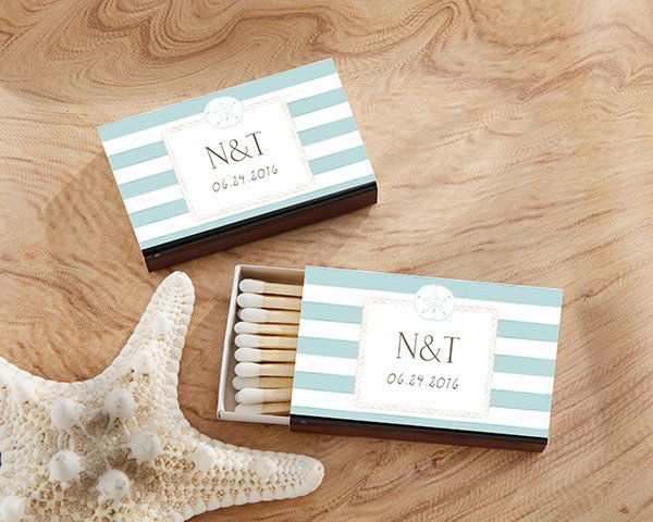 Beach Themed Matches (Set of 50) FREE SHIPPING - Something Sweet Party Favors LLC