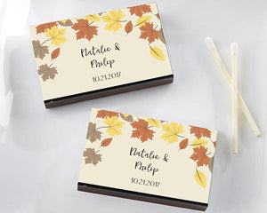 Fall Leaves Matches (Set of 50) FREE SHIPPING - Something Sweet Party Favors LLC