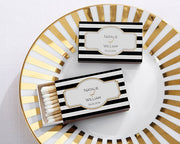 Black & White Striped Matches (Set of 50) FREE SHIPPING - Something Sweet Party Favors LLC