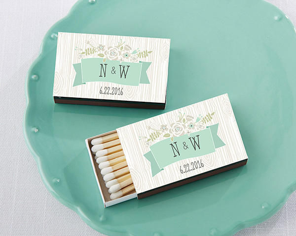 Rustic Themed Custom Match Favors (Set of 50) - Something Sweet Party Favors LLC