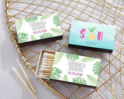 Pineapple Themed Matches (Set of 50) FREE SHIPPING - Something Sweet Party Favors LLC