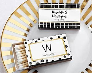 Modern and Gold Dot Matches (Set of 50) FREE SHIPPING - Something Sweet Party Favors LLC