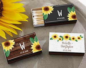 Sunflower Themed Matches (Set of 50) FREE SHIPPING - Something Sweet Party Favors LLC