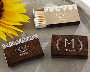 Rustic Charm Matches (Set of 50) FREE SHIPPING - Something Sweet Party Favors LLC
