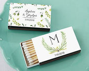 Botanical Garden Themed Matches (Set of 50) FREE SHIPPING - Something Sweet Party Favors LLC