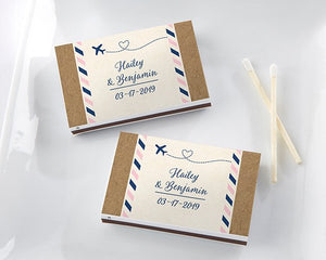 Travel Themed Custom Matches (Set of 50) FREE SHIPPING - Something Sweet Party Favors LLC