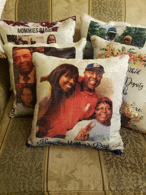 Photo Sequin Pillow or Pillowcase - Something Sweet Party Favors LLC