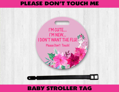 Unicorn Baby Stroller Germ Tag - Something Sweet Party Favors LLC