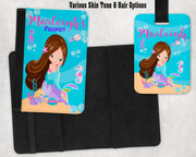Mermaid Passport Cover and Luggage Tag - Something Sweet Party Favors LLC