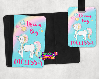 Unicorn Passport Cover and Luggage Tag - Something Sweet Party Favors LLC
