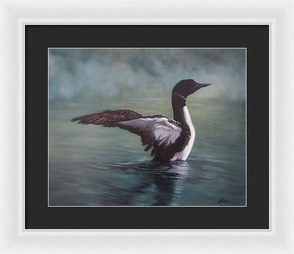 Opeongo Morning - Framed Print from an Original Loon Painting
