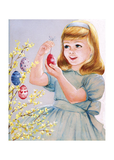Easter Eggs and Girl Print