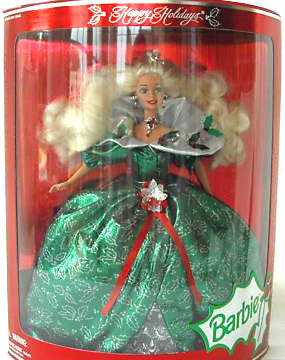 1995 Happy Holidays Barbie NIB