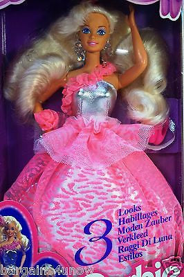 1994 3 Looks Barbie NIB