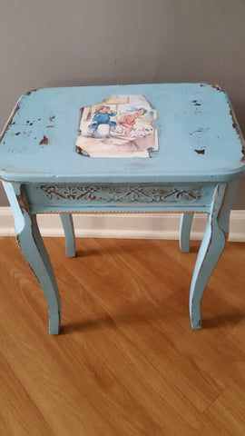 Blue Painted Small Table
