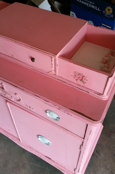 Vintage Pink Painted Chest
