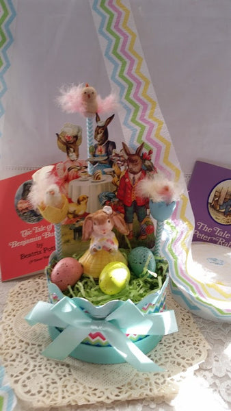 Vintage Inspired Easter Diorama