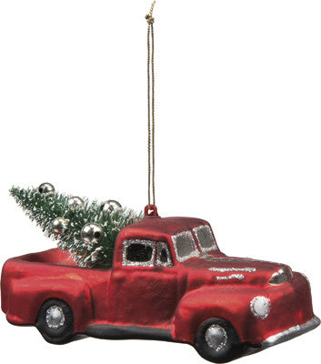 Large Glass Truck Ornament