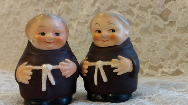 Pair of Friar Salt and Pepper Shakers