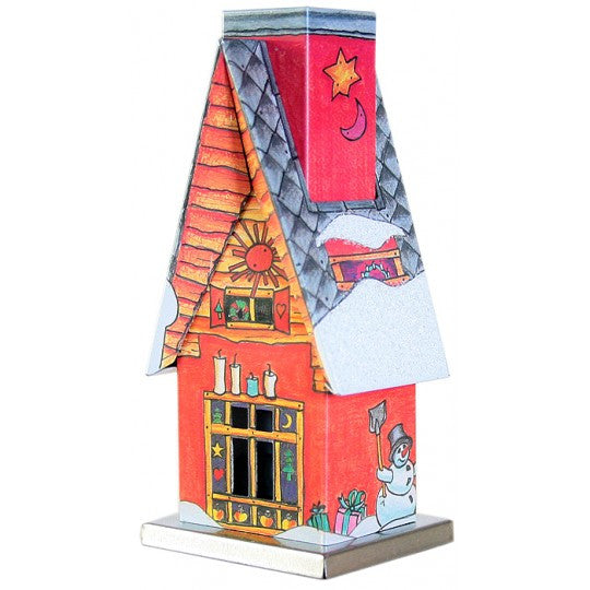 Red Snowman Cottage Incense Smoker ~ Germany