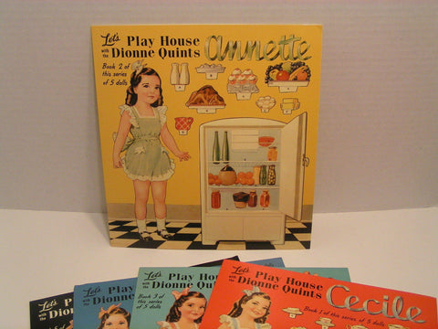 Lets Play House Dionne Quints Paper Dolls Annette Set