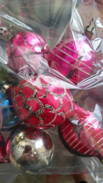 12 Vintage Christmas Ornaments