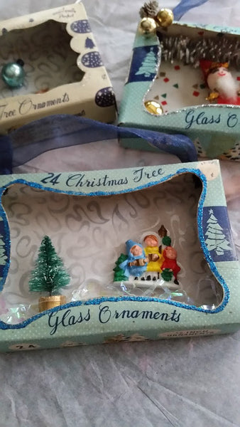 Three Magical Vintage Ornaments