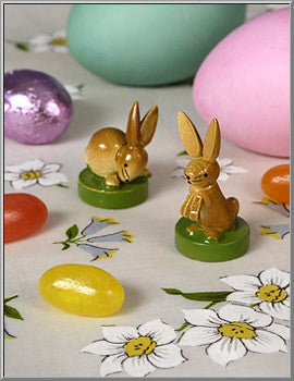 1960's Mini Wood Rabbits
