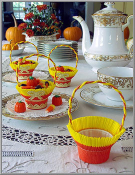 Fancy Crepe Paper Nut Cup Baskets