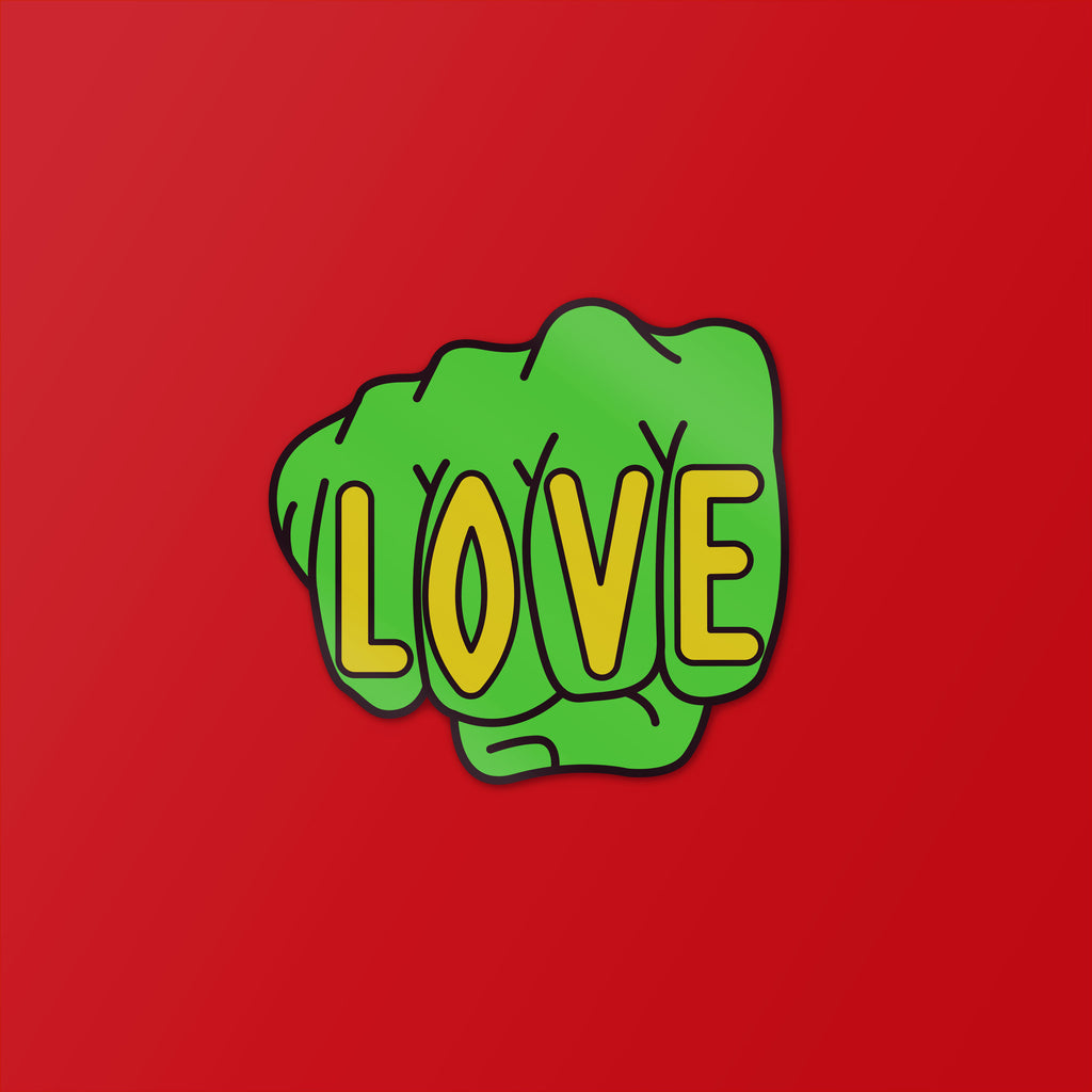 Love Knuckles Sticker