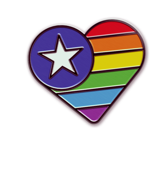 PREORDER: Rainbow Heart Pin
