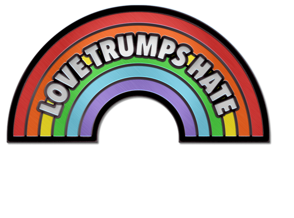 LOVE TRUMPS HATE PIN