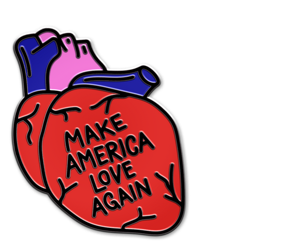 MAKE AMERICA LOVE AGAIN PIN