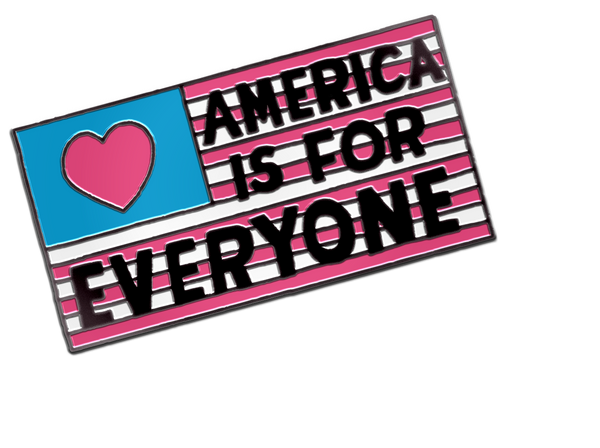 AMERICA IS FOR EVERYONE PIN