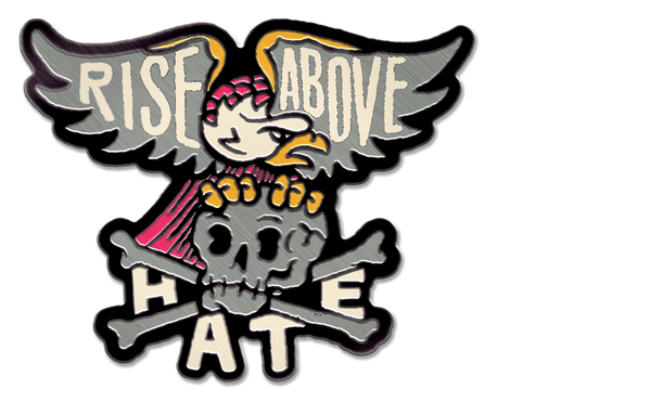 RISE ABOVE HATE PIN