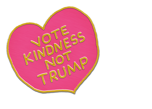 VOTE KINDNESS NOT TRUMP PIN
