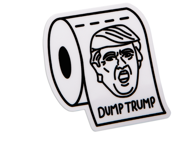 TOILET TRUMP STICKER
