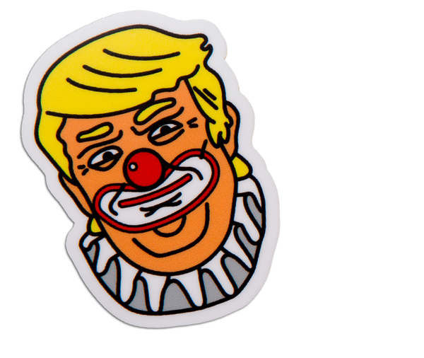 CLOWN TRUMP STICKER